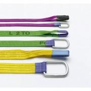 Pfeifer Polytex®-Hebeband max. Tragfähigkeit 4000 kg, VE 2 Stk, grün mit 2 Schlaufen, Nutzlänge 2000 mm