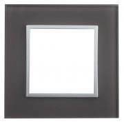 SOPIA Lichtschalter Einzelrahmen aus Glass (grau-braun) 159317