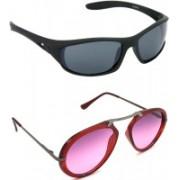 Hrinkar Sports Sunglasses(Grey, Pink)