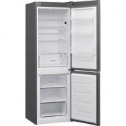 Combina frigorifica Whirlpool W5 811E OX H, 339 l, Clasa A+, Less Frost, 6th Sense, H 189 cm, Inox