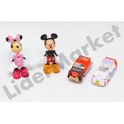 Set figurine Mickey si Minnie Mouse cu automobile