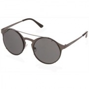 Fastrack M174BK1 Round UV Protection Sunglasses Black / Cream