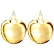 Star Trading LED-ljus äpple mini guld 2-p