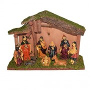 Asian Hobby Crafts Three Kings Gifts Real Life Nativity (9 Pieces, 10x7-inch)