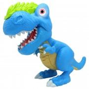 Figurina interactiva Dinozaur Junior T-Rex Cu Lumini Si Sunete - Bleu