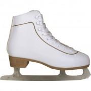 Nijdam Patins patinagem art. clássicos mulher, couro, 43, 0043-WIT-43