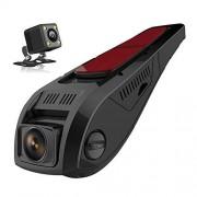 SDRFSWE Dual FHD 1080P Dash CAM Cámara Delantera Y Trasera De Doble Cámara para Autos Que Conducen La Grabadora DVR,32G