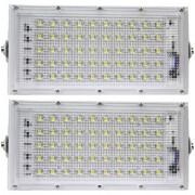 hospitals New High Power led 50watt LED watt Ultra Thin Slim IP66 IP6667/50 LED Flood Outdoor Light Cool White Waterproof-Pack Of 2
