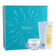 Thalgo Cold Cream Marine подаръчен комплект дневна грижа за лице 50 ml + маска за лице 50 ml + почистващо масло за лице Éveil á La Mer 50 ml за жени