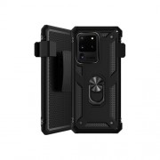 SaharaCase - Military Series Kickstand Case for Samsung Galaxy S20 Ultra 5G - Black