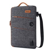 """DOMISO 14 Inch Waterproof Laptop Bag Canvas with USB Charging Port Headphone Hole for 14"""" Laptops/Apple / Acer Chromeboo"""