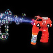 Red Fire Engine Truck Light Up Bubble Gun With Sound (1)