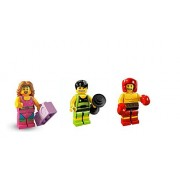 LEGO Weightlifter Fitness Instructor and Boxer: Lego Collectible Minifigures Series 5 Custom Bundle 71008