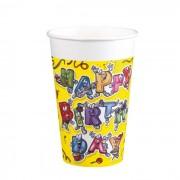 Pahare plastic 200 ml set 8 bucati Celebration, Herlitz