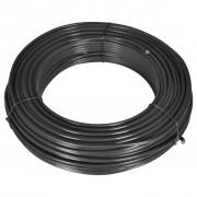 vidaXL Тел за привързване на ограда, 80 м, 2,1/3,1 мм, стомана, сива