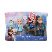 Frozen Set Papusi Deluxe Ana, Elsa, Kristoff, Sven si Olaf