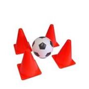 Minge Mookie Soccer Football Ball 4 Cones