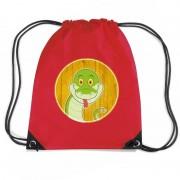 Bellatio Decorations Slangen rugtas / gymtas rood voor kinderen