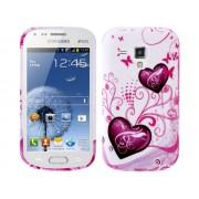 NTR MPC08WPIH Samsung Galaxy Trend Plus/S Duos/S Duos II szilikon tok - fehér/pink szives