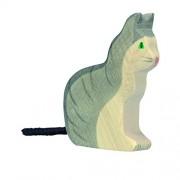 Holtztiger Holztiger Sitting Cat Wooden Figure