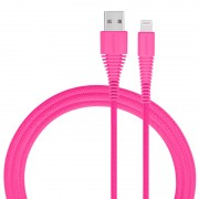 MOMAX MFI 1.2M Woven 2.4A Lightning 8pin USB Data Sync Charging Cord for iPhone iPad iPod - Pink