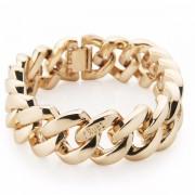 The Rubz Metal 15mm Unisex Bracelet Soft Gold
