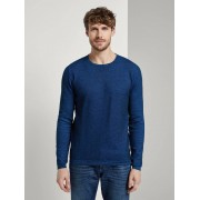TOM TAILOR Getextureerde trui, blue blue knitted structure, L
