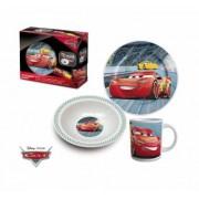 Disney Cars, porslinset, 3 delar med tallrik, mugg och skål