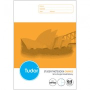 TUDOR NPT86 NSW RULING BOTANY BOOK 64 PAGE 8MM RULED 250 X 175MM ORANGE PACK OF 20