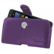 Capa de Couro PDair Horizontal para Huawei Y6 Pro - Púrpura