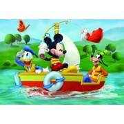 Puzzle de podea - Mickey Mouse la pescuit 24 piese