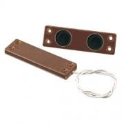 FDP Contatto magnetico ultrapiatto in plastica doppio magnete UP10/M Marrone