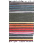 RugVista Rainbow Stripe - Grå matta 100x160 Modern Matta