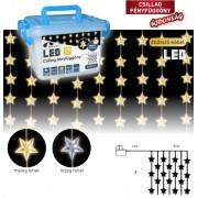 Csillag fényfüggöny 0.9 x 2 m 192 db hideg fehér LED KDS 145