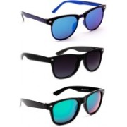 TheWhoop Wayfarer Sunglasses(Black, Blue, Green)