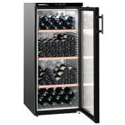Vitrina pentru vinuri Liebherr WKb 3212, 309 L, 164 sticle, Rafturi lemn, Control taste, Display, H 135 cm, Clasa A, Negru