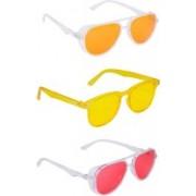 TheWhoop Aviator, Wayfarer Sunglasses(Red, Orange, Yellow)