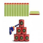 Generic 100PCS Light Green Refill Bullets Dart For Nerf N-strike Elite Rampage Retaliator Series One Piece