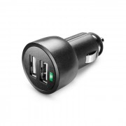 Cellular Line Cellularline USB Car Charger Dual Ultra - Fast Charge Universale Caricabatterie a 15W per due dispositivi Nero