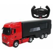 Masina Rastar Mercedes-Benz Actros with load truck 1 26 2.4GHz RTR AA baterie - Rosu cu telecomanda