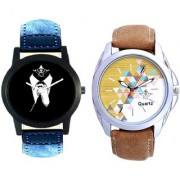 Professional Men And Attractive Design Brown Belt Analogue Men's Combo Watch By Google Hub