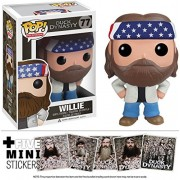 Willie: Funko POP! x Duck Dynasty Vinyl Figure + 5 FREE Official Duck Dyasty Mini-Stickers Bundle