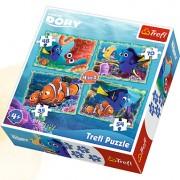 Trefl Puzzle Slagalica 4u1 Underwater Fun Finding Dory (34259)