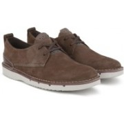 Clarks Capler Plain Brown Sde Casual Shoes For Men(Brown)