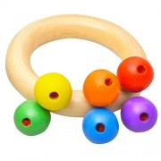 HATCHMATIC GeekFun Baby Kids Wooden Bell Rattle Toy Baby Handbell Musical Educational Instrument Rattles for Toddlers Babies Juguetes: 02