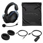 HEADPHONES, Kingston HyperX Cloud Alpha S 7.1, Microphone, Gaming, Blue (HX-HSCAS-BL-WW)