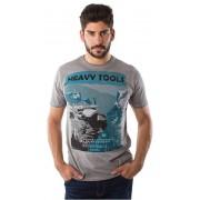 Heavy Tools T-shirt pentru bărbați Mile W16-130 cu Argent XL
