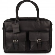Burkely Laptoptas Burkely Finn Vintage Businessbag Classic Black 14 inch