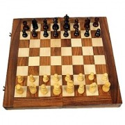 Triple S Handicrafts 12 Folding Chess Set With Coins Board Game