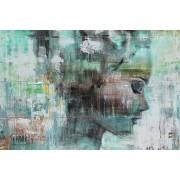 Werk aan de Muur Schilderij Angie green - Aluminium Dibond - 80x55